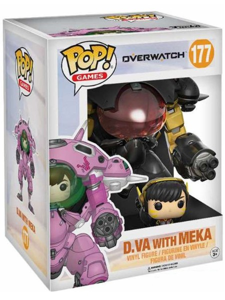 Funko POP #177 Overwatch D.Va & Meka Carbon Fiber Exclusive