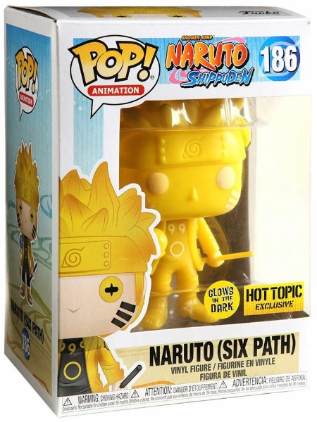 Funko POP #186 Naruto Shippuden Naruto Six Path Yellow Glow