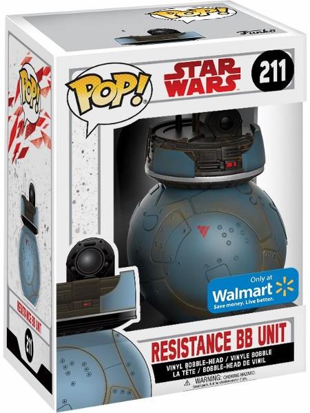 #211 NEW RESISTANCE BB UNIT Star Wars Walmart Exclusive Funko POP