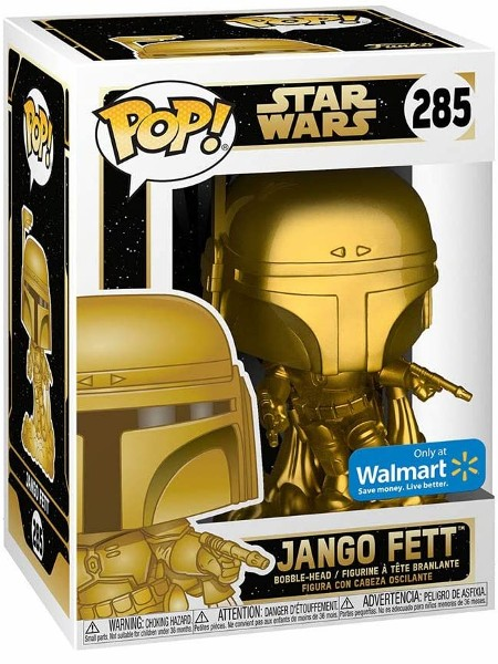 Funko POP #285 Star Wars Jango Fett Gold Metallic Exclusive