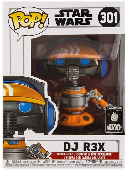 Funko POP #301 Star Wars DJ R3X Exclusive Figure
