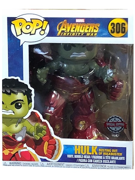 Funko POP #306 Avengers Hulk Busting Out of Hulkbuster Exclusive