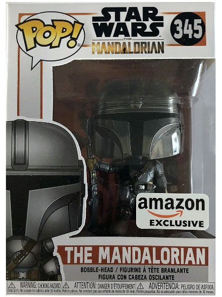 Funko POP #345 Star Wars The Mandalorian Chrome Exclusive Figure