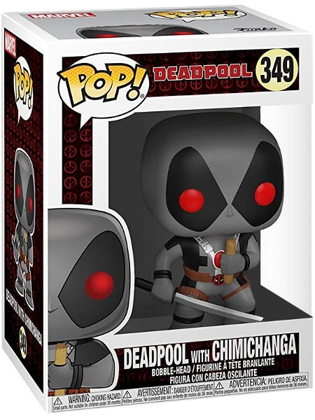 Funko POP #349 Deadpool with Chimichanga Exclusive Figure