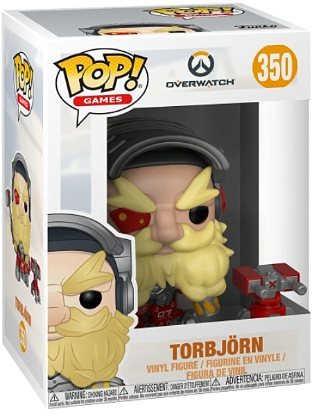 Funko POP #350 Games Overwatch Torbjorn Figure