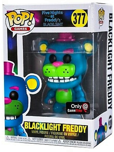 Funko POP #377 Five Nights at Freddys Blacklight Freddy Figure