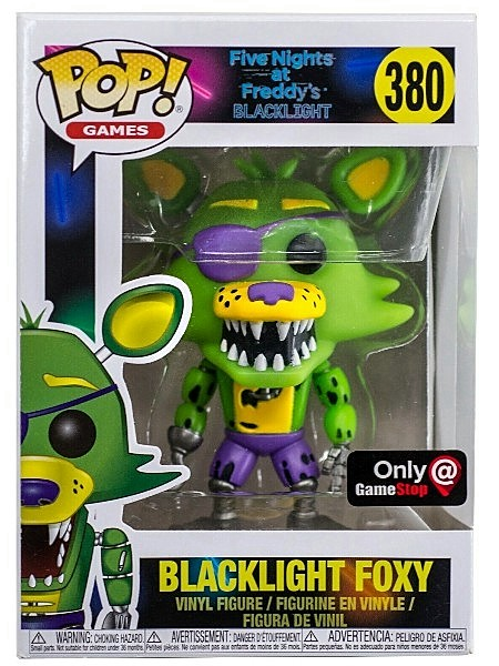 Funko POP #380 Five Nights at Freddys Blacklight Foxy Exclusive