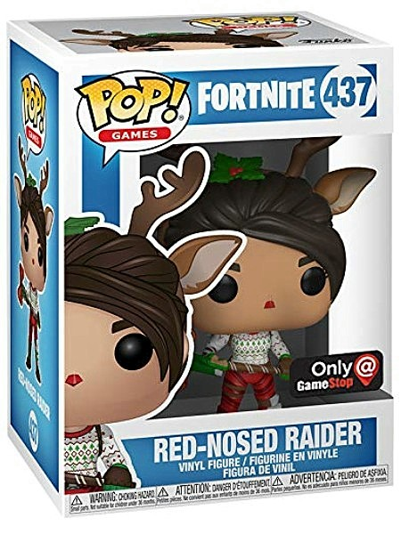 Funko POP #437 Games Fortnite Red Nosed Raider Exclusive