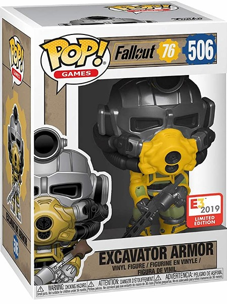 Funko POP #506 Games Fallout 76 Excavator Armor Exclusive Figure