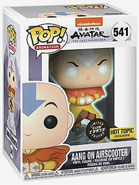Funko POP #541 Avatar The Last Airbender Aang on Airscooter Glow