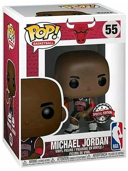 Funko POP #55 NBA Michael Jordan Black Jersey Exclusive Figure