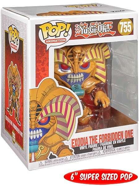 "#755 VINYL 6/"" FIGURE IN HAND FUNKO POP EXODIA THE FORBIDDEN ONE YU-GI-OH"