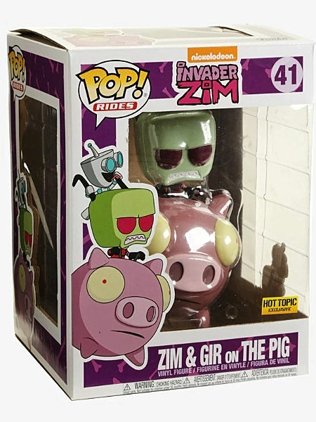 Funko POP Rides #41 Invader Zim - Zim and Gir on Pig Exclusive