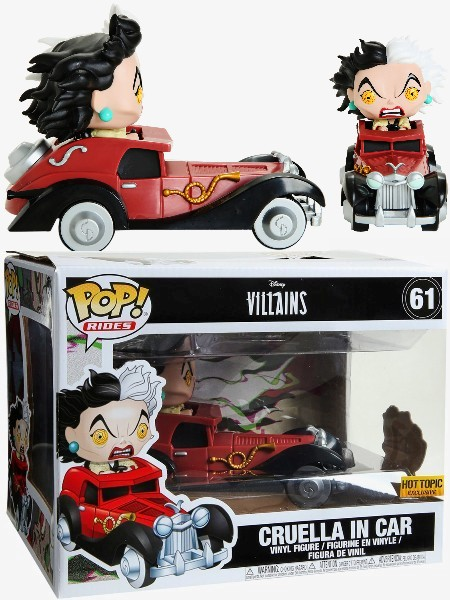 Funko POP Rides #61 Disney Villains Cruella in Car Figure