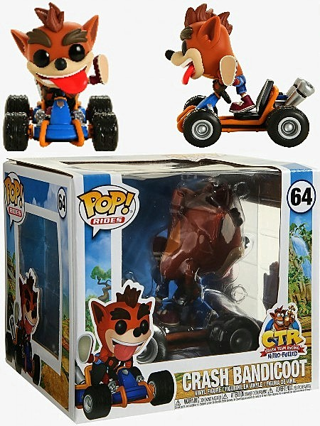 Funko POP Rides #64 Crash Bandicoot Figure