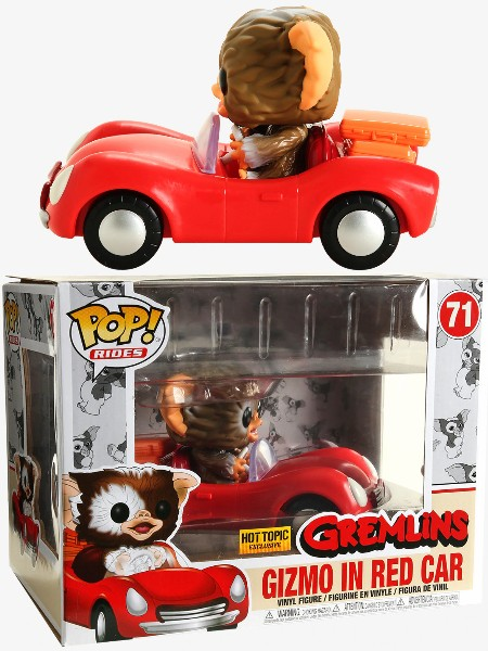 Funko POP Rides #71 Gremlins Gizmo in Red Car Figure