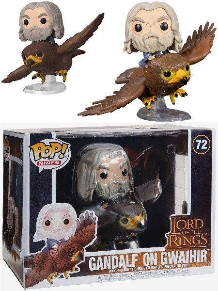 Funko POP Rides #72 Lord of the Rings Gandalf on Gwaihir Figure