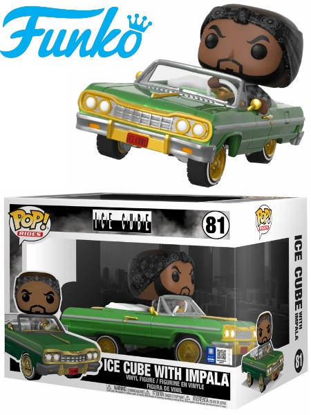 Funko POP #81 Rides Ice Cube with Impala Figure