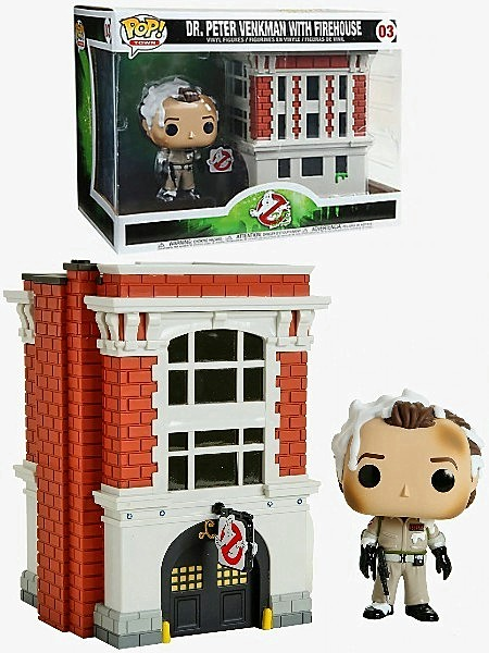 PETER VENKMAN WITH FIREHOUSE # 3 Funko POP Town Nuovo Ghostbuster