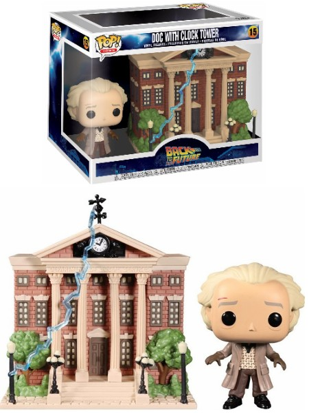Funko POP #15 Town Back to the Future Doc and Clock Tower Figure