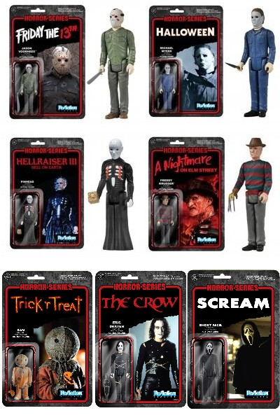 Funko Super 7 Horror Classics ReAction 3.75 Inch Figure Set