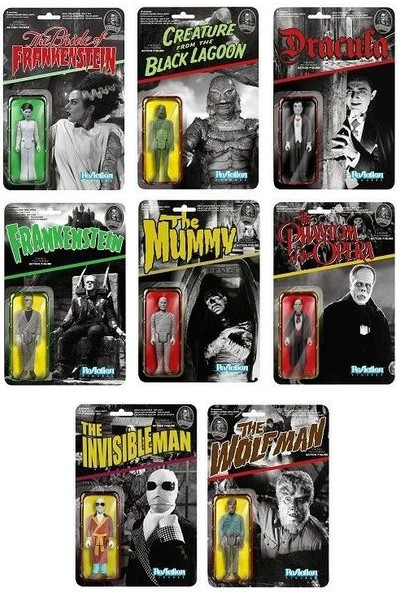 Funko Super 7 Universal Monsters ReAction 3.75 Inch Figure Set