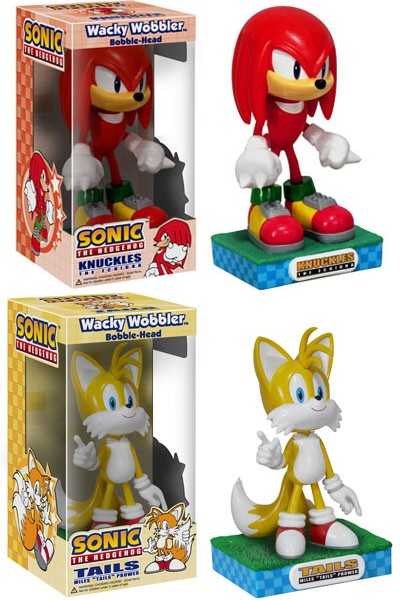 Funko Sonic Knuckles and Tails Wacky Wobbler Bobble Head Set