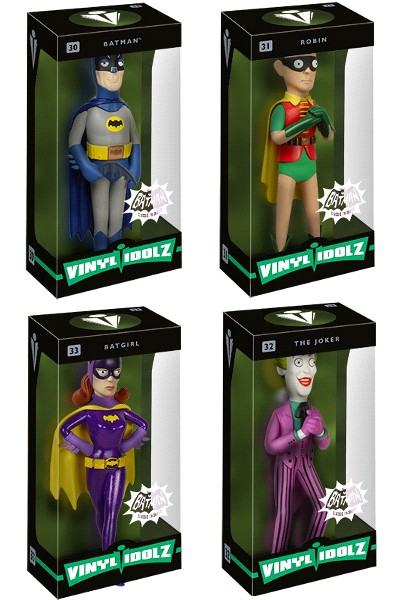 Funko DC Batman 1966 TV Series Vinyl Idolz Action Figure Set