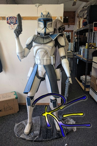 Gentle Giant Star Wars Clone Wars Captain Rex Life Size Monument