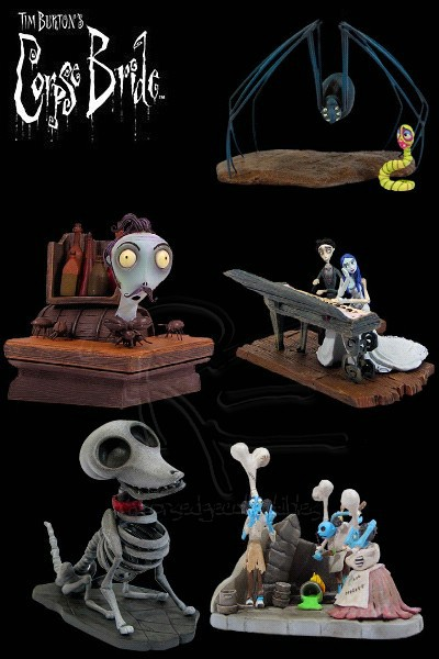 Gentle Giant Corpse Bride Bust Ups Series 2 Set of 5