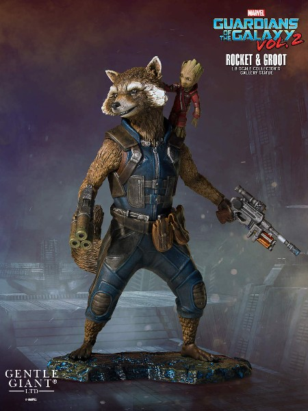 Preorder Gentle Giant Marvel Rocket and Groot Collectors Gallery