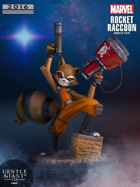 Gentle Giant Marvel Animated Rocket Racoon SDCC Exclusive Statue