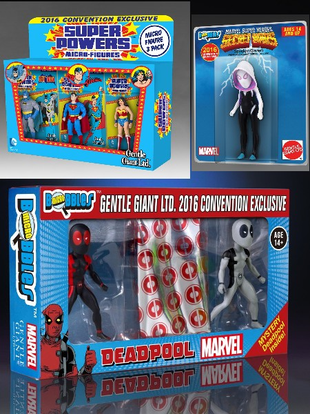 Gentle Giant Super Heroes Micro Figure and Bobble Exclusive Set