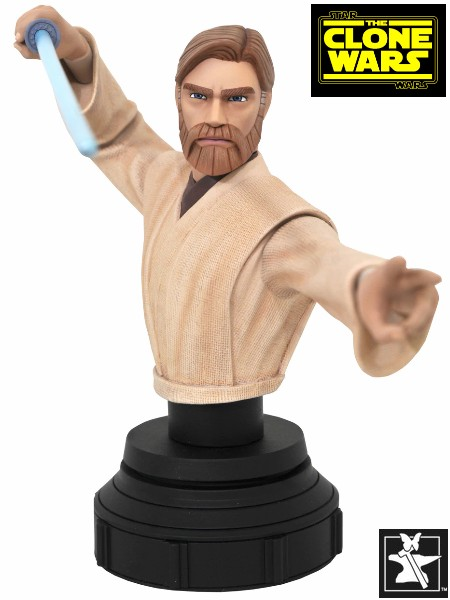 Gentle Giant Star Wars Clone Wars Obi Wan Kenobi 7th Scale Bust