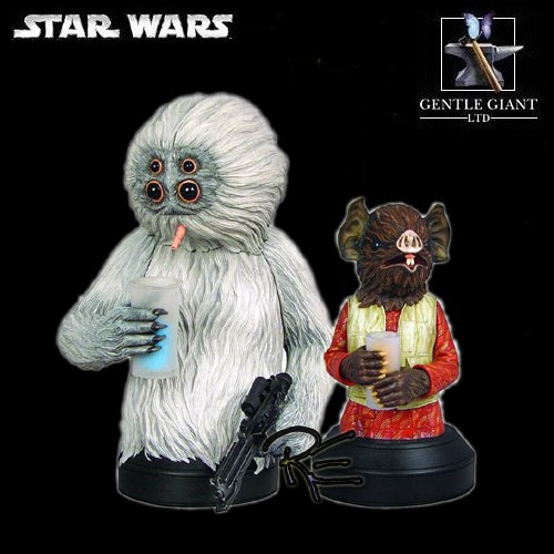 Gentle Giant Star Wars Kabe and Muftak Mini Bust Two Pack