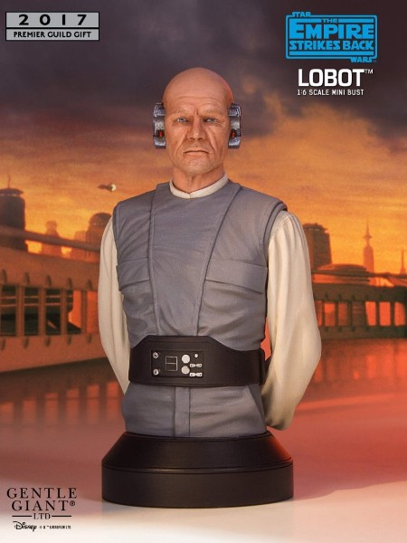 Gentle Giant Star Wars Lobot Exclusive Mini Bust
