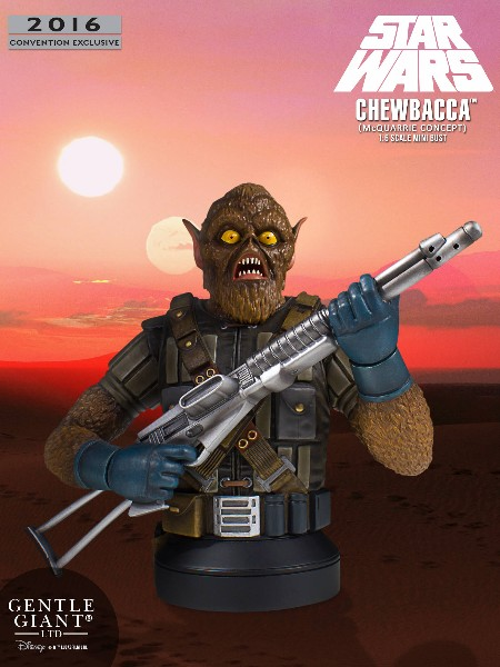 Gentle Giant Star Wars Chewbacca McQuarrie Concept Mini Bust