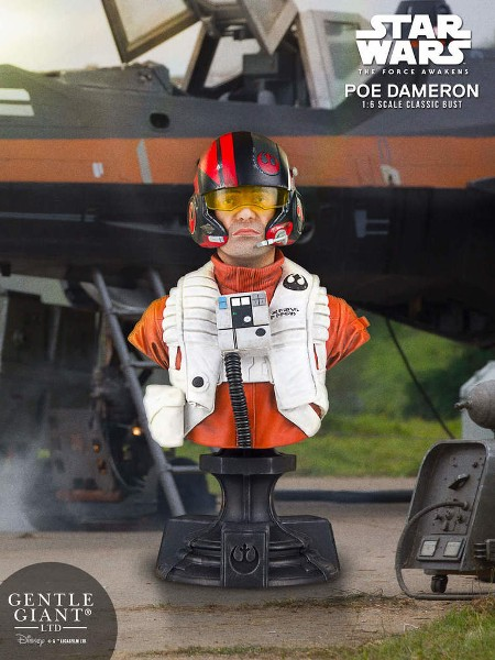 Gentle Giant Star Wars The Force Awakens Poe Dameron Bust