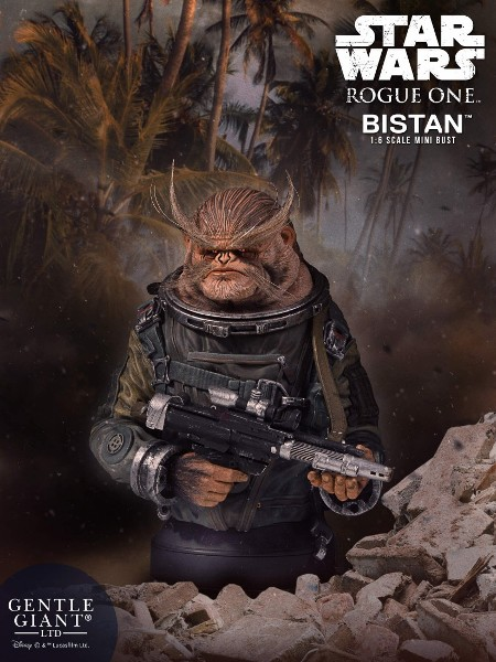 Gentle Giant Star Wars Rogue One Bistan Bust