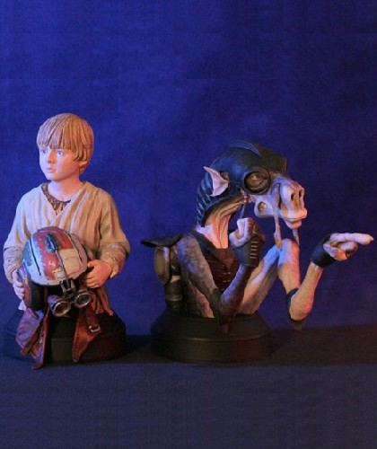 Gentle Giant Star Wars Sebulba and Anakin Mini Bust 2 Pack