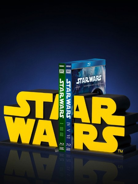 Gentle Giant Star Wars Yellow Logo Bookends Set of 2