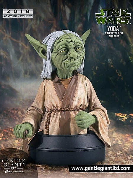 Gentle Giant Star Wars Yoda McQuarrie Concept Mini Bust