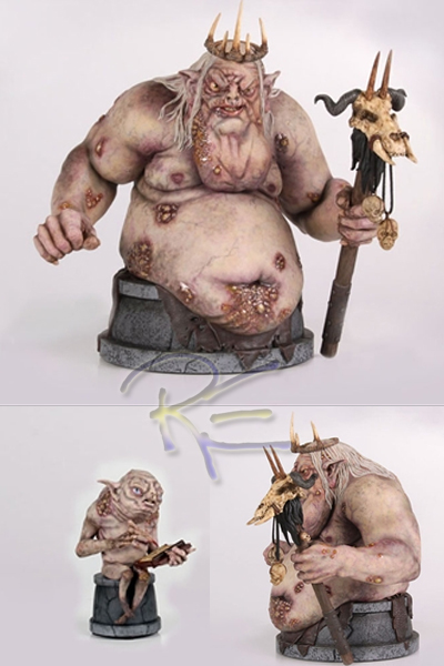 Gentle Giant The Hobbit The Goblin King and Goblin Scribe Bust