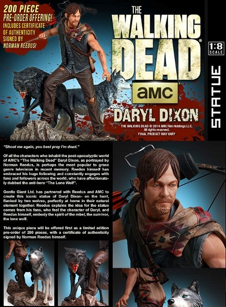 Gentle Giant The Walking Dead Daryl and the Wolves Exclusive