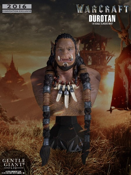Gentle Giant Warcraft Durotan SDCC Exclusive Bust