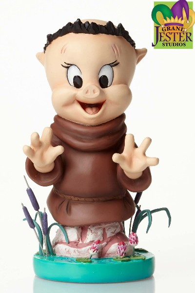 Grand Jester Studios Looney Tunes Porky Pig as Friar Tuck Bust