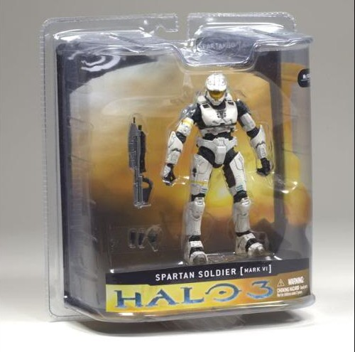 McFarlane Halo 3 Series 1 Spartan Mark VI White Figure