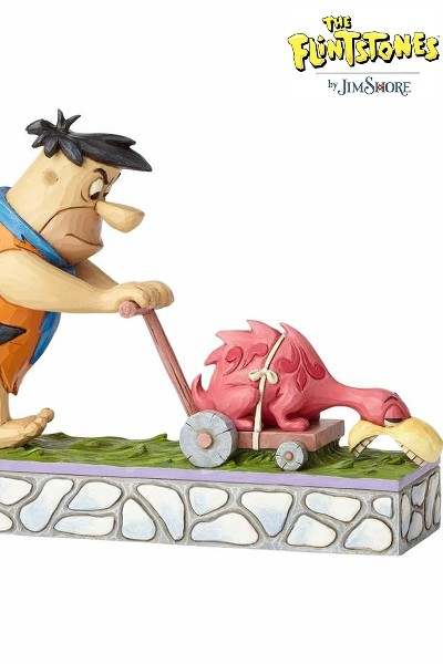 Hanna Barbera The Flintstones Fred Mowing the Lawn Statue
