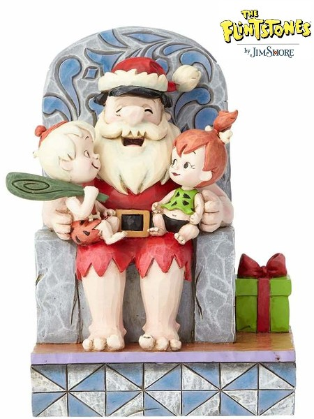 Hanna Barbera The Flintstones Santa Fred with Kids Statue