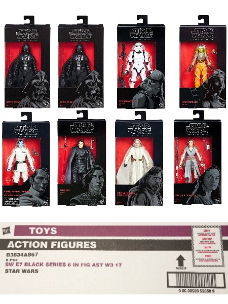 Hasbro Star Wars Black Series 6 Inch Wave 12 Case of 8 Figures